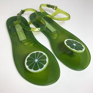 Katy Perry lime jelly sandals